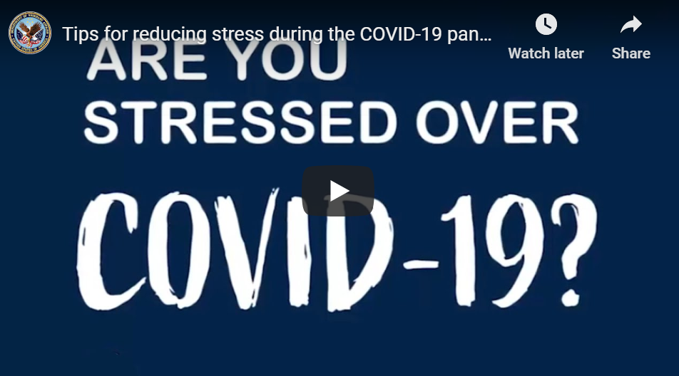 """Video image """"are you stressed over COVID-19"""""""