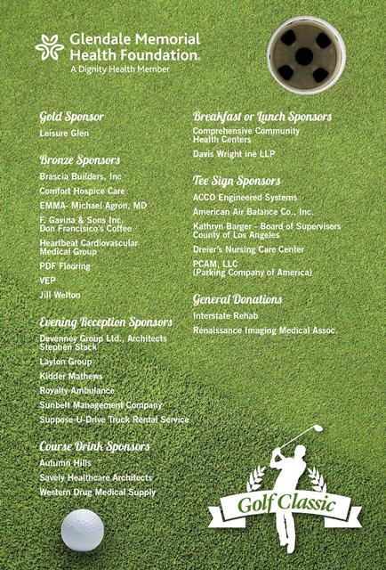2020 Golf Sponsor